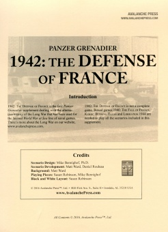 Defense of France boxcover