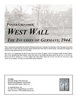 West Wall boxcover