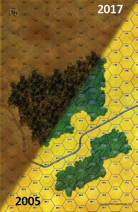 Panzer Grenadier Headquarters Library Map: 6 for Panzer Grenadier game series