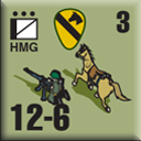 Panzer Grenadier Headquarters Library Unit: United States Army Cav HMG for Panzer Grenadier game series