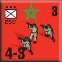 Panzer Grenadier Headquarters Library Unit: Morocco Moroccan Ground Forces ESC for Panzer Grenadier game series