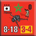 Panzer Grenadier Headquarters Library Unit: Morocco Moroccan Ground Forces 75mm for Panzer Grenadier game series