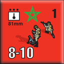 Panzer Grenadier Headquarters Library Unit: Morocco Moroccan Ground Forces 81mm for Panzer Grenadier game series