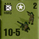 Panzer Grenadier Headquarters Library Unit: United States Army HMG for Panzer Grenadier game series