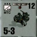Panzer Grenadier Headquarters Library Unit: Germany Heer Motorcycle for Panzer Grenadier game series