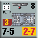 Panzer Grenadier Headquarters Library Unit: Germany Heer PzIIIf for Panzer Grenadier game series