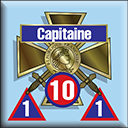 Panzer Grenadier Headquarters Library Unit: France Armée de Terre Capitaine for Panzer Grenadier game series