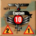 Panzer Grenadier Headquarters Library Unit: Germany Heer Captain for Panzer Grenadier game series