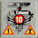 Panzer Grenadier Headquarters Library Unit: Germany Heer Lt. Colonel for Panzer Grenadier game series
