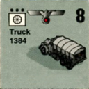 Panzer Grenadier Headquarters Library Unit: Germany Heer Truck for Panzer Grenadier game series